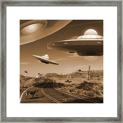 Route 66 - You Never Know . . . Framed Print by Mike McGlothlen