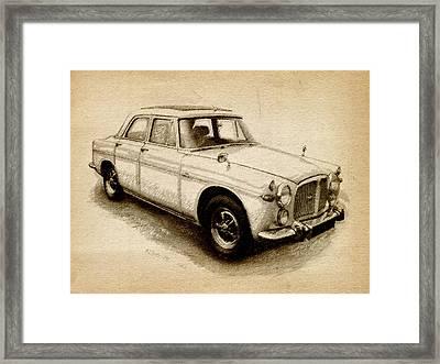 Rover P5 1968 Framed Print by Michael Tompsett