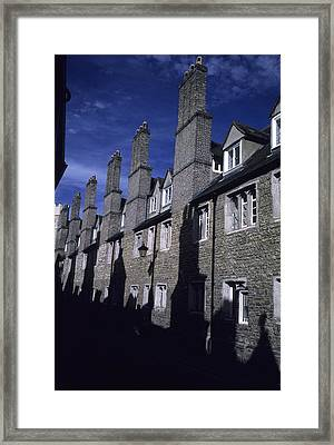 Row Houses Stand Huddled Together Framed Print by Taylor S. Kennedy