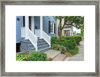 Row Of Historic Row Houses Framed Print by Edward Fielding