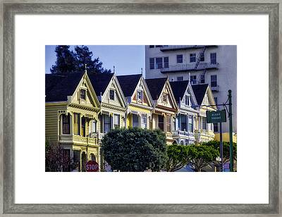 Row Of Painted Ladies Sf Framed Print by Garry Gay