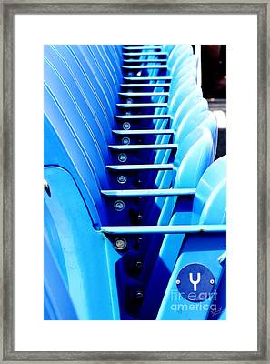 Row Of Stadium Seats Framed Print by Nishanth Gopinathan