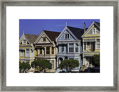 Row Of Victorian Houses Framed Print by Garry Gay