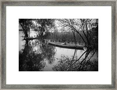 Rowboat Framed Print by Marco Oliveira