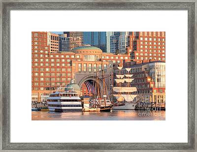 Rowes Wharf Framed Print by Susan Cole Kelly