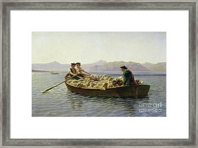 Rowing Boat Framed Print by Rosa Bonheur