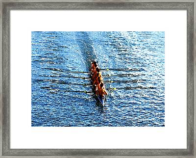 Rowing In Framed Print by David Lee Thompson