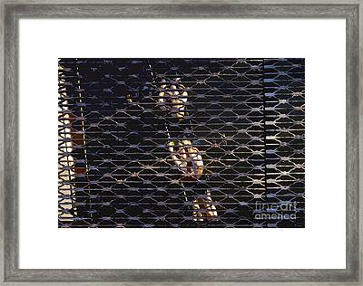 Rowing Through The Grate Framed Print by David Lee Thompson