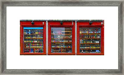 Rows Of Bottles  Framed Print by Sharon Yanai