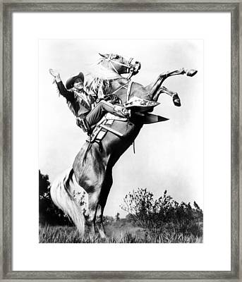 Roy Rogers Riding Trigger, Ca. 1940s Framed Print by Everett