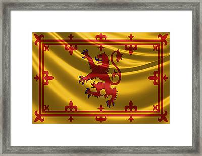 Royal Banner Of The Royal Arms Of Scotland Framed Print by Serge Averbukh