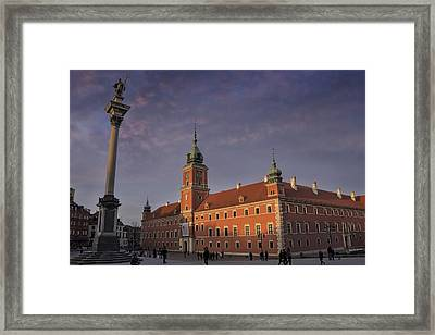 Royal Castle Warsaw Old Town Framed Print by Carol Japp