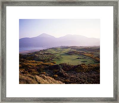 Royal Co. Down Golf Course Overlooked Framed Print by Chris Hill
