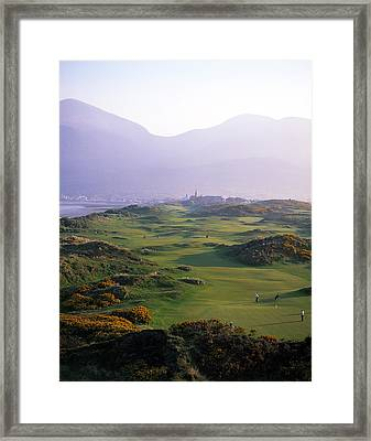 Royal County Down Golf Club In Front Framed Print by Chris Hill