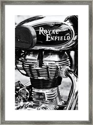 Royal Enfield Bullet 500 Monochrome Framed Print by Tim Gainey