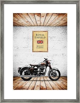 Royal Enfield Classic C5 Framed Print by Mark Rogan