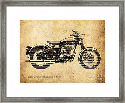Royal Enfield Classic Chrome 2016, Poster For Men Cave Framed Print by Pablo Franchi