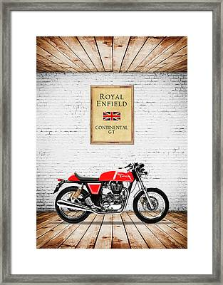 Royal Enfield Continental Gt Framed Print by Mark Rogan