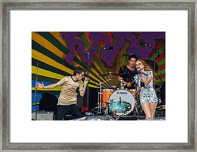 Royal Teeth At The 2014 Jazz Fest Framed Print by Terry Finegan