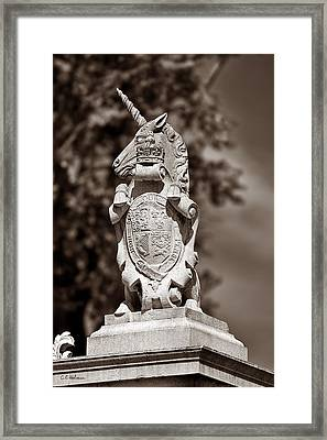 Royal Unicorn - Sepia Framed Print by Christopher Holmes
