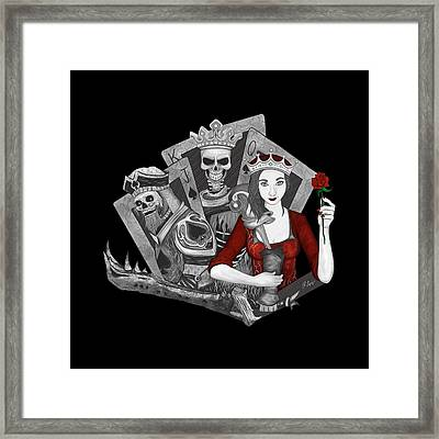 Framed Print featuring the digital art Royalty Love by Raphael Lopez