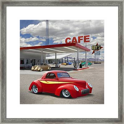 Roy's Gas Station - Route 66 2 Framed Print by Mike McGlothlen