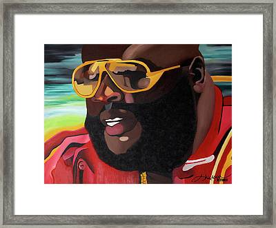 Rozay Framed Print by Chelsea VanHook