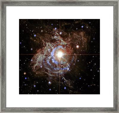 Rs Puppis Super Star Framed Print by Mark Kiver