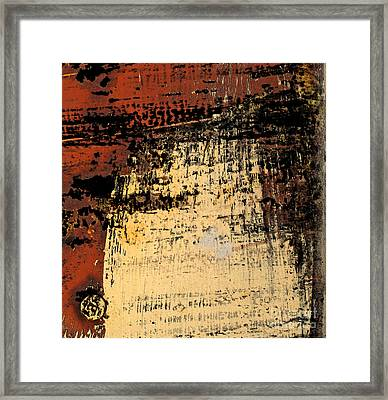 Rub Abstract Framed Print by Gary Everson