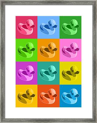 Rubber Ducks Framed Print by Michael Tompsett