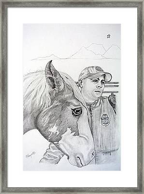 Rubio With Bp Agent Framed Print by Gregory Hayes