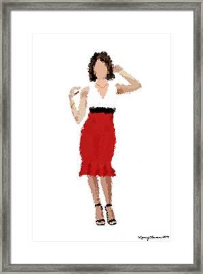 Ruby Framed Print by Nancy Levan