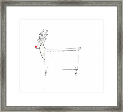 Rudolf The Red Nosed Radiator Framed Print by Lincoln Seligman