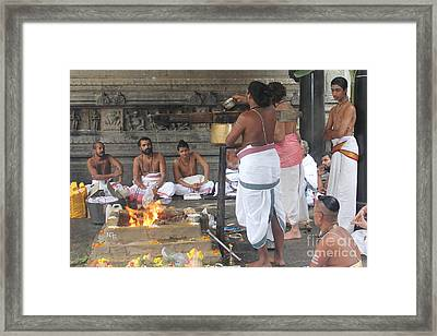 Rudra Homa Framed Print by Nelson Smith