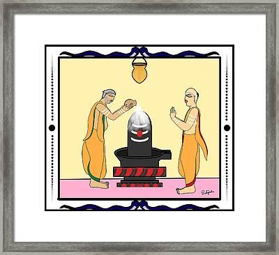 Rudrabhishekam Framed Print by Pratyasha Nithin