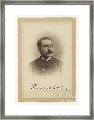Rudyard Kipling  Framed Print by MotionAge Designs