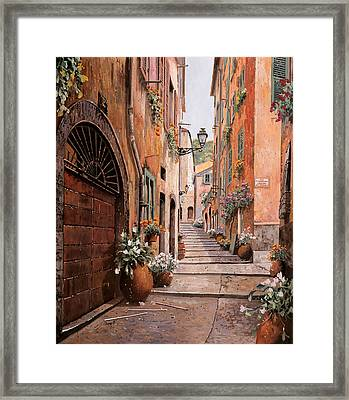 rue Malonat in  Nice Framed Print by Guido Borelli