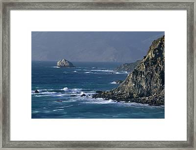 Rugged Coastline - Highway One Framed Print by Soli Deo Gloria Wilderness And Wildlife Photography