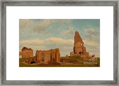 Ruins Campagna Framed Print by Albert Bierstadt