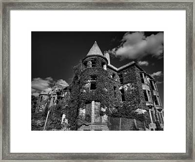Ruins Of Detroit 001 Bw Framed Print by Lance Vaughn