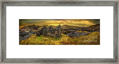 Ruins Of Snowdonia Panorama Framed Print by Adrian Evans
