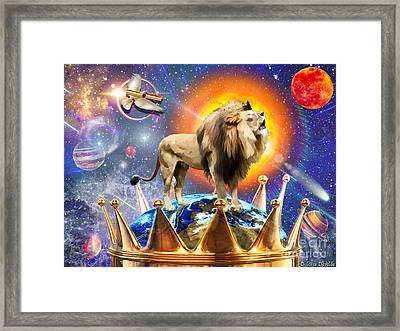 Rule And Reign Framed Print by Dolores Develde