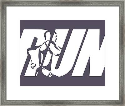 Run 4 Framed Print by Joe Hamilton