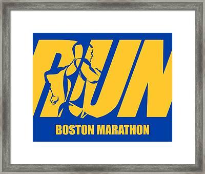 Run Boston Marathon Framed Print by Joe Hamilton