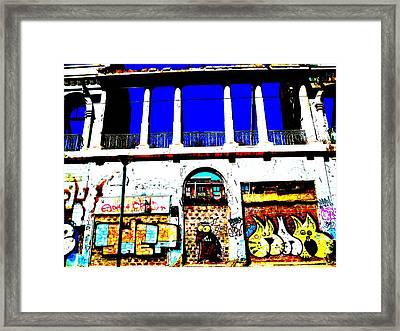 Run Down Valparaiso Buildings Framed Print by Funkpix Photo Hunter