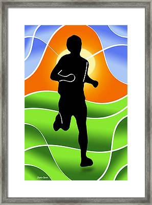 Run Framed Print by Stephen Younts