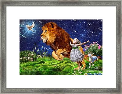 Run The Good Race Framed Print by Dolores Develde