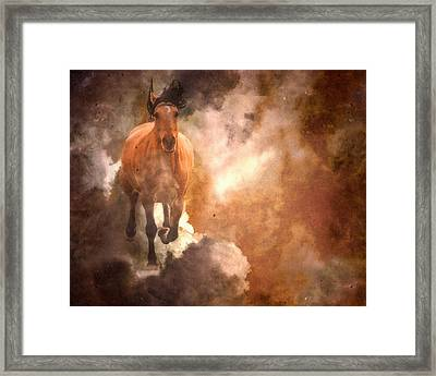 Run With Thunder Framed Print by Ron  McGinnis
