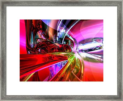 Runaway Color Abstract Framed Print by Alexander Butler