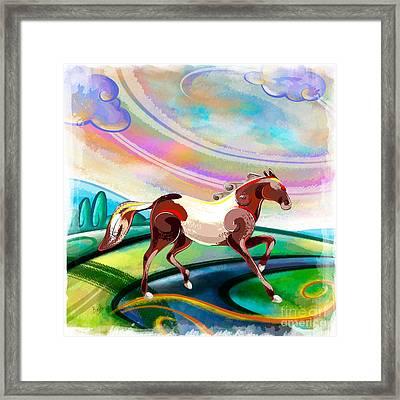Runaway Horse Framed Print by Bedros Awak